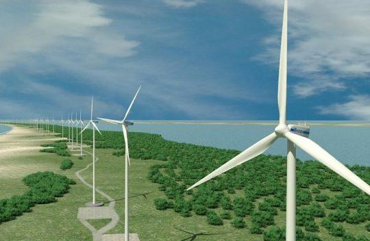 Hoàn thành giai đoạn đo gió, đánh giá tiềm năng gió và hiệu quả của dự án Điện gió Bến Tre.